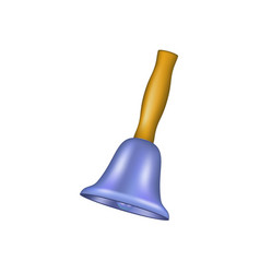 bell with wooden handle vector image