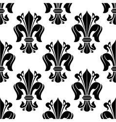 Black and white victorian floral pattern vector image