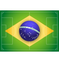 Brazilian Flag and Championship of football 2014 vector image