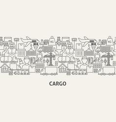 Cargo banner concept vector
