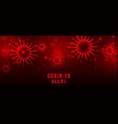 Coronavirus covid-19 pandemic outbreak red vector