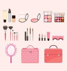 Cosmetic Equipments Set vector image