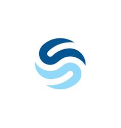 creative letter s logo symbol element templ vector image