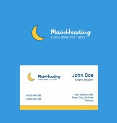Cresent logo design with business card template vector