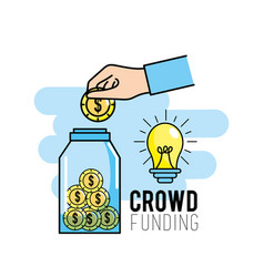 Crowndfunding finance project to idea support vector