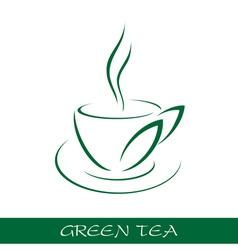 Cup tea symbol vector