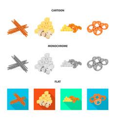 design of taste and seasonin logo vector image