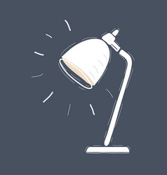 desk lamp light on dark background vector image