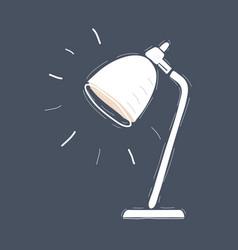desk lamp light on dark background vector image