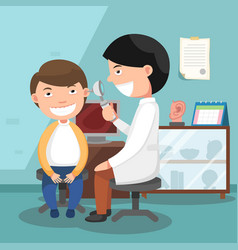 Doctor performing physical examination vector