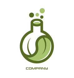 eco lab and science logo vector image
