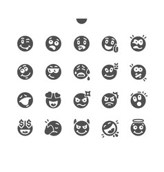 Emotions well-crafted pixel perfect vector