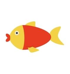 Fish sea animal icon graphic vector