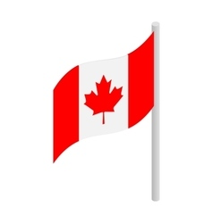 Flag of Canada icon isometric 3d style vector image