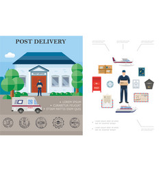 flat delivery colorful concept vector image