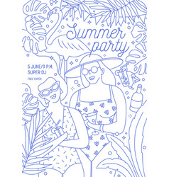 flyer invitation or poster template for summer vector image
