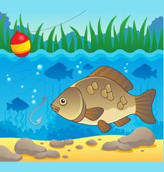 Freshwater fish theme image 2 vector
