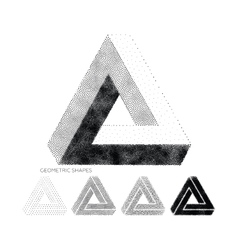 Geometric abstract 3D Triangles vector