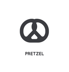 german pretzel icon glyph sihouette web and app vector image
