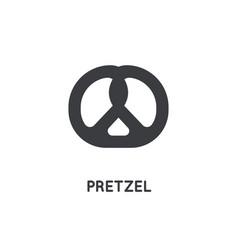 german pretzel icon glyph silhouette web and app vector image
