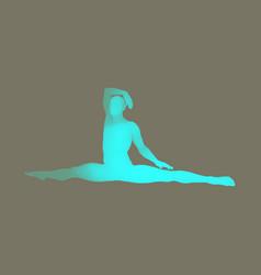 Gymnast 3d human body model man doing yoga vector