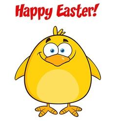 Happy smiling yellow chick cartoon vector