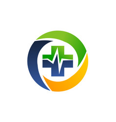 health center logo design template vector image