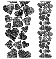 Hearts seamless pattern vertical composition Love vector image