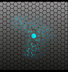 Hexagonal tile background vector