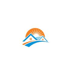 home solar cell logo icon vector image