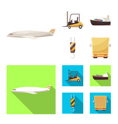 isolated object goods and cargo icon vector image