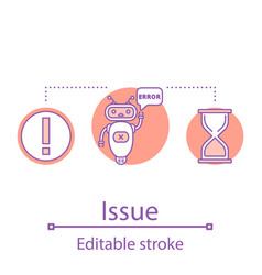 Issues concept icon vector