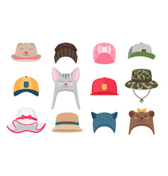 Kids hats vector