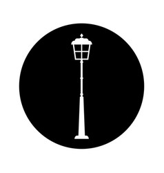 lantern park isolated icon vector image