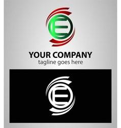 Letter E logo icon set vector
