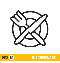 Line icon kitchenware vector