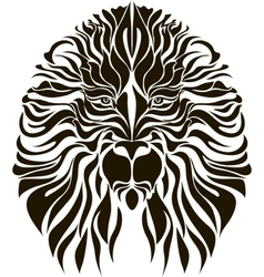 Lion head in black vector