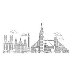 London skyline line art 4 vector