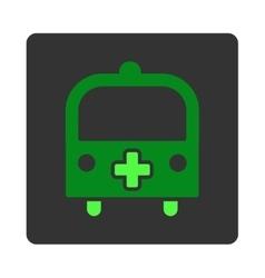 Medical Bus Flat Button vector image