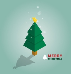 Merry christmas tree isometric vector