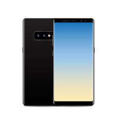 new realistic mobile black smartphone modern vector image