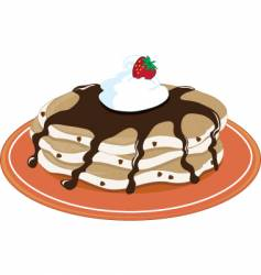 pancakes chocolate vector image