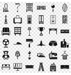 Pillow icons set simple style vector