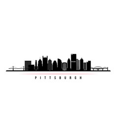 pittsburgh skyline horizontal banner vector image