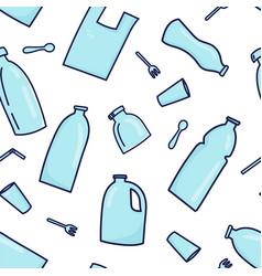 plastic garbage simless pattern vector image