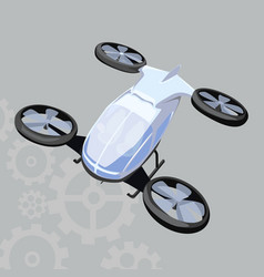 quadrocopter icon on a grey background vector image