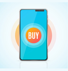 realistic 3d detailed buy ecommerce app concept vector image