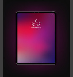 realistic new tablet mockup design vector image