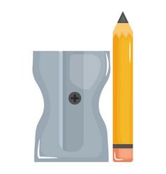 School pencil supply witth sharpener vector