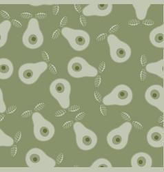 seamless abstract natural 2-colors green vector image